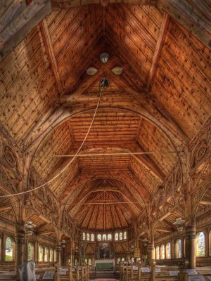 St Olaf's Church, Balestrand, Norway 2010 - Inside