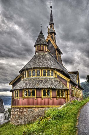 St Olaf's Church, Balestrand, Norway 2010 - Outside