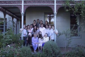 Family get together - on the veranda