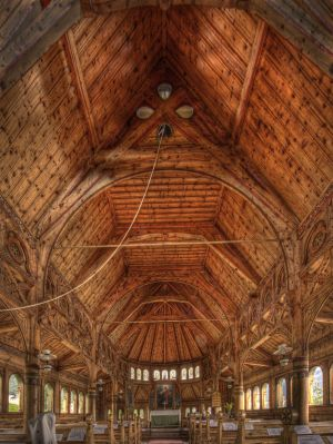 Interior, St Olaf's Church, Balestrand, Norway 2010