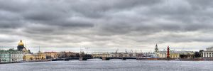 View across Neva River from Peter and Paul Fortress 2012