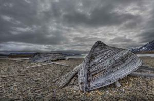 Abandoned Whaling Boats, Spitzbergen, Svalbard, Norway 2010