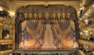 Historical Curtain, Mariinskiy Theatre, St Petersburg, Russia 2012