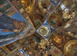 Interior, Church on Spilled Blood, St Petersburg, Russia 2012