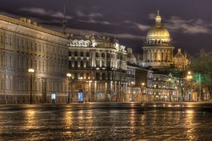 Early morning St Petersburg